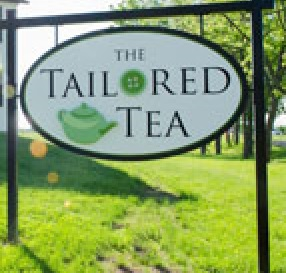 the tailored  tea sign
